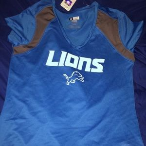 Women's v neck Detroit lions